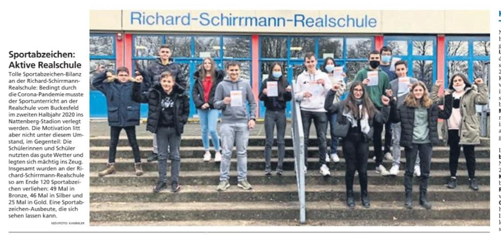 Aktive Realschule: Sportabzeichen an der RSR